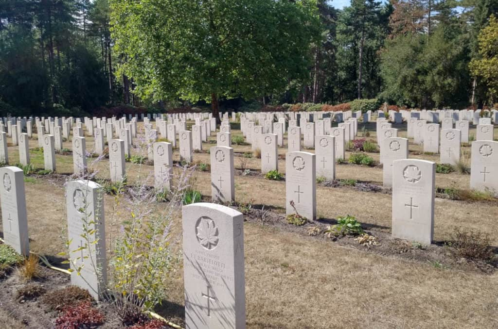 Canadian soldiers buried in The Netherlands